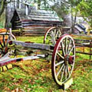 Vintage Wagon On Blue Ridge Parkway I Poster