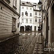 Vintage Walk In Prague Poster by John Rizzuto