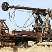Vintage Water Well Drilling Truck Poster