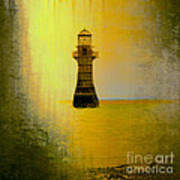 Vintage Whiteford Lighthouse Poster