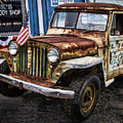 Vintage Willy's Jeep Pickup Truck Poster