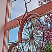Vintage Wrought Iron Bike In Window Art Prints Poster