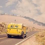 Vintage Yellowstone Bus Poster