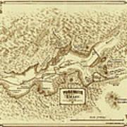 Vintage Yosemite Map 1870 Poster