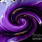 Viola Swirl Poster