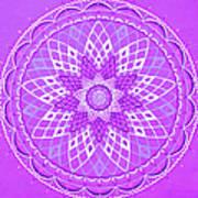 Violet Mandala Poster