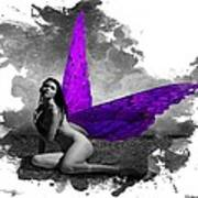 Violet Wings Poster by Diana Shively
