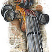Violin 01 Elena Yakubovich Poster by Elena Yakubovich