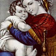 Virgin And Child Circa 1856  Poster