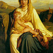 Virgin And Child Poster by Paul  Delaroche