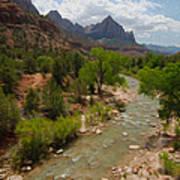 Virgin River Through Zion National Park Poster