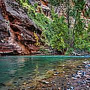 Virgin River Zion National Park Utah Poster
