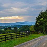 Virginia Road At Sunset Poster