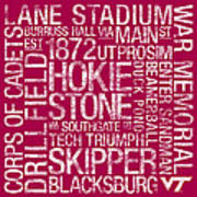 Virginia Tech College Colors Subway Art Poster