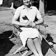 Virginia Van Wie Holding A Golf Club Poster