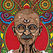 Visionary Gandhi Poster