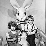 Visiting The Easter Bunny Poster