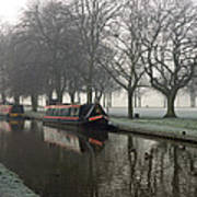 Visitor Moorings Beside Shobnal Fields Poster