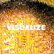 Visualize Gold Poster