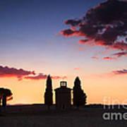 Vitaleta Chapel - Tuscany - Italy Poster