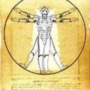 Vitruvian Cyberman Poster