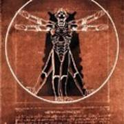 Vitruvian Cyberman On Mars Poster