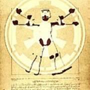 Vitruvian Stormtrooper Ghost Poster