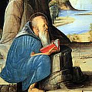 Vivarini's Saint Jerome Reading Poster