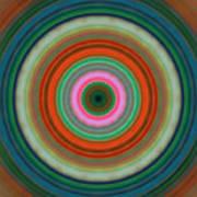 Vivid Peace - Circle Art By Sharon Cummings Poster