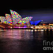 Vivid Sydney 2014 - Opera House 5 By Kaye Menner Poster