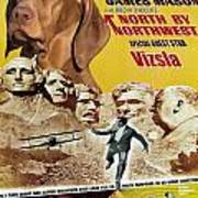 Vizsla Art Canvas Print - North By Northwest Movie Poster Poster