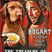 Vizsla Art Canvas Print - The Treasure Of The Sierra Madre Movie Poster Poster
