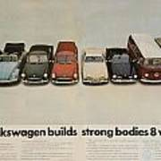 Volkswagen Body Facts Poster by Georgia Fowler