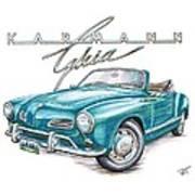 Volkswagon Karmann Ghia Poster