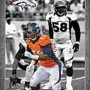 Von Miller Broncos Poster by Joe Hamilton
