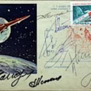 Vostok 1 Commemorative Post Poster