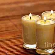 Votive Candle Burning Poster