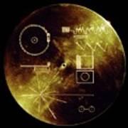 Voyager Spacecraft Plaque Poster