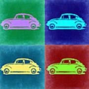 Vw Beetle Pop Art 3 Poster by Naxart Studio