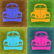 Vw Beetle Pop Art 6 Poster by Naxart Studio