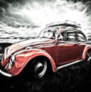 Vw Bug Art Poster