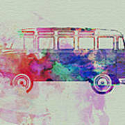 Vw Bus Watercolor Poster