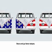 Vw Go Faster Stripes Poster