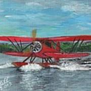 Waco Cabin Biplane Circa 1930 Poster