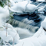 Wagner Creek In Winter Poster