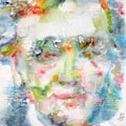Wagner - Watercolor Portrait Poster