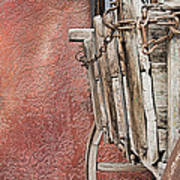 Wagon At The Hacienda Poster by Robert Bascelli