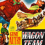 Wagon Team, Us Poster Art, Gene Autry Poster