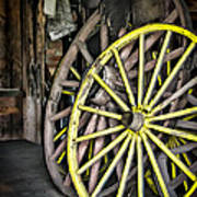 Wagon Wheels Poster by Colleen Kammerer