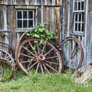 Wagon Wheels In Color Poster by Crystal Nederman